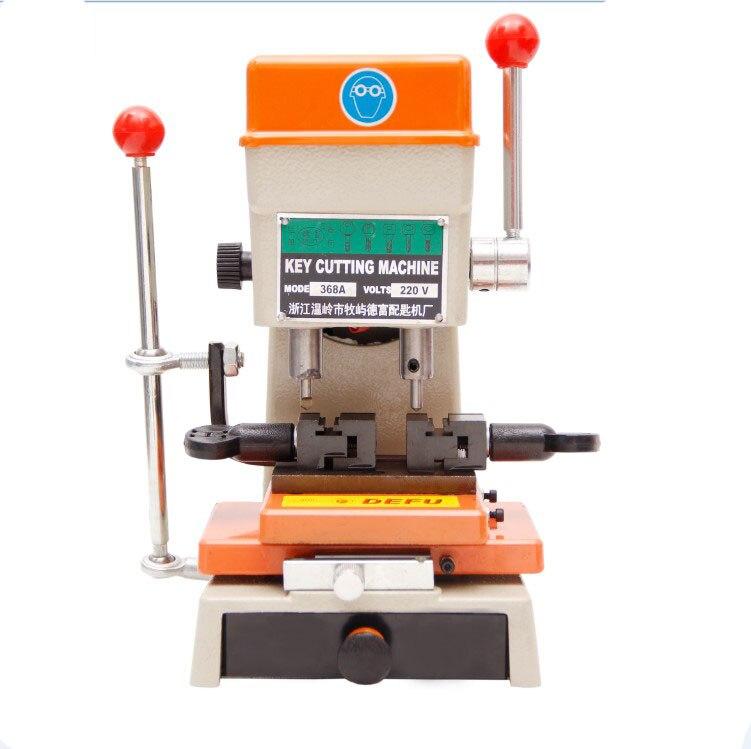 Newest Laser Defu Car Key Cutting Copy Duplicating Machine 368a With Full Set Cutters For Making keys Locksmith tools недорго, оригинальная цена