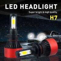 H7 H4 H1 H8 H13 9004 9005 9006 9007 9012 COB LED Headlight 80W 8000LM Car