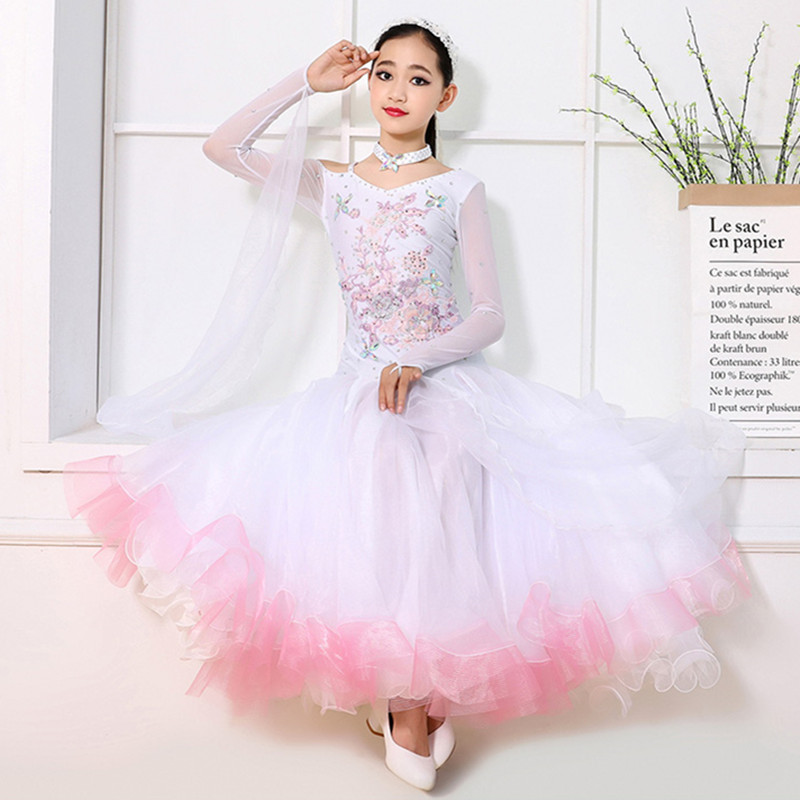 Ballroom Dancing Dresses For Kids Dance Costume For Kids Ballroom Dance Competition Dresses Children Dance Dress For Girls