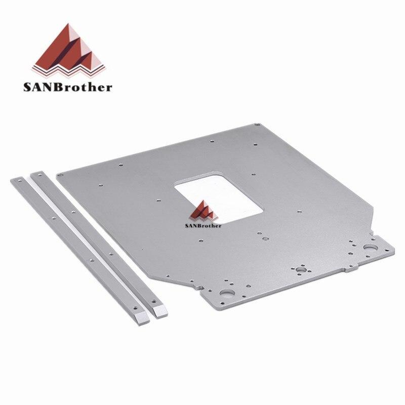 SANJIUPrinter para Ultimaker 2 cama de calor nuevo diseño UM2 la placa de calefacción de óxido de aluminio, superficie de limpieza todo el precio