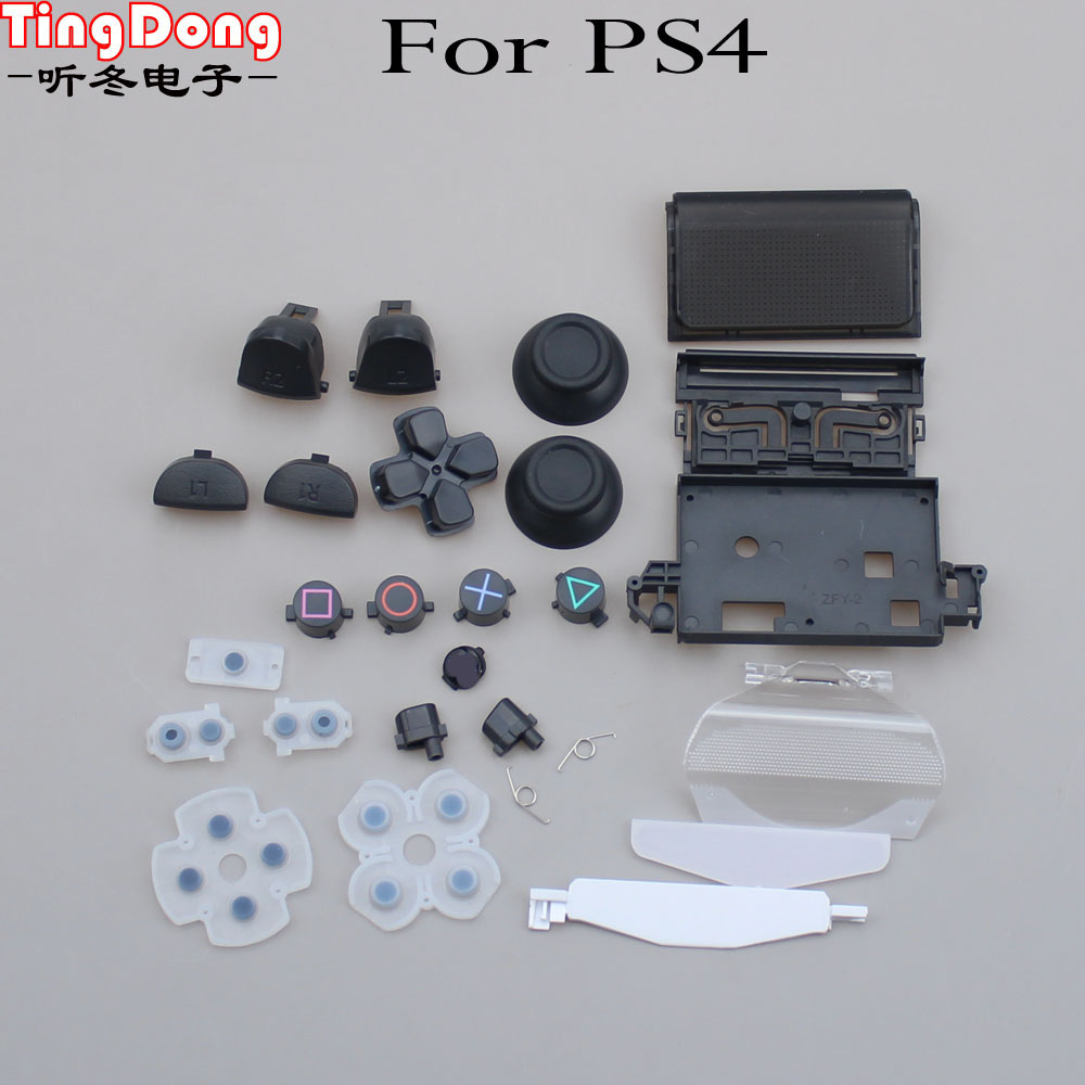 Joysticks Cap Dpad R1/L1/R2/L2 Direction Key Bullet ABXY Buttons+Crew  For Sony PS4  JDM-011 Controller Gamepad Dualshock 4