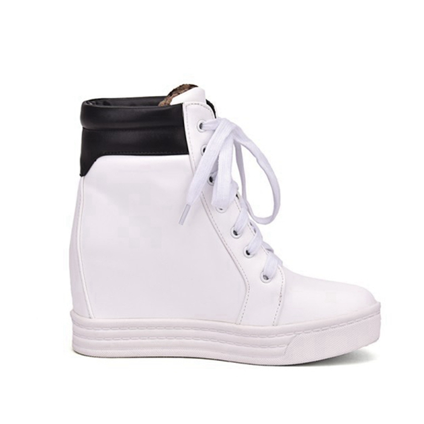 Baskets White white Taille Green Black Wedge Red Lacent And Compensées forme Blanc Grande white Chaussures Plate white Femmes Silver Femme tqzPaggx