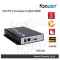 Mini HD 1080 P IPTV codificador HDMI H.264 fim cabeça, Solução de economia para streaming ao vivo IPTV broadcasting 60fps