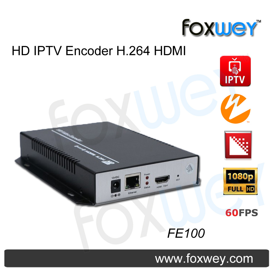Mini hd 1080p iptv encoder hdmi h.264 head end , 60fps saving...