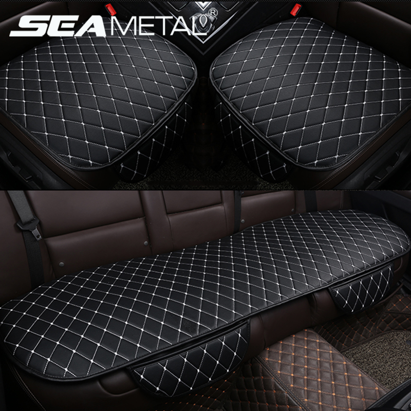 Accessories Car Seat Covers PU Leather Seat Cover Automobiles Universal Auto Interior Cushion Four Season Protect Set Chair Mat(China)