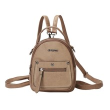 Fashion Temperament Mini Multi Backpack Women Casual Bag Letter Rivet Bags Soft Cute Small Backpacks mochila feminina