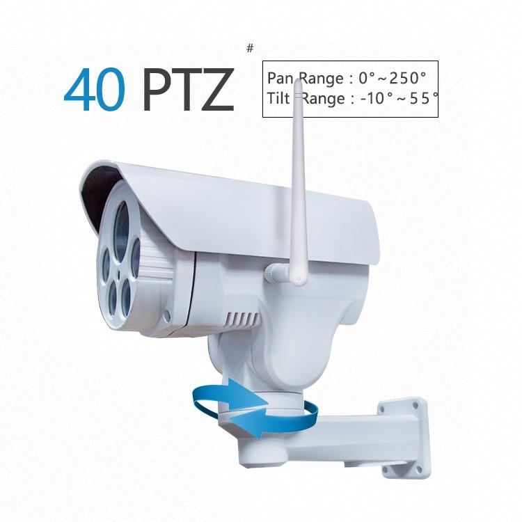 waterproof IP66 PTZ WIFI Bullet PTZ Phone app control 1080p wifi bullet PTZ Camera 2.8-12mm sony 323 camera