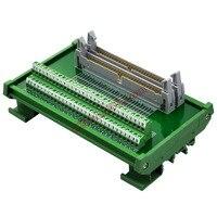 CZH LABS DIN Schiene Montieren Dual IDC60 Pitch 2 54mm Männlichen Header Interface Modul Breakout Board.|Klemmleisten|Heimwerkerbedarf -