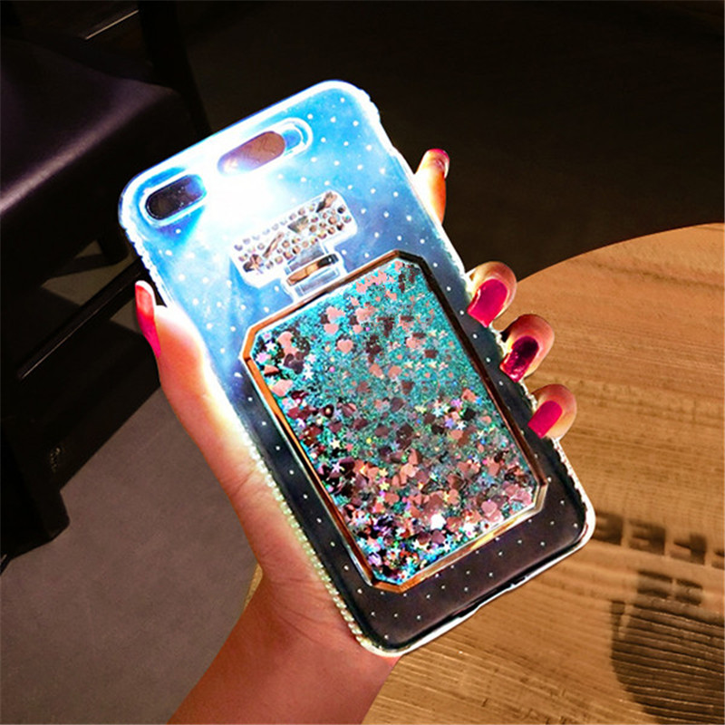 Led verlichting knippert telefoon case voor iphone 7 7 plus Bling ...