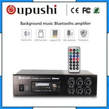 OUPUSHI MP-2060U MP-2080U 60 Watt 80 w Amplificador com FM Bluetooth USB Sinal Digital