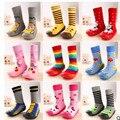 Zapatos de Interior Del Piso Calcetines Infantiles del niño Calcetines Con Suela De Goma de Los Muchachos de los Bebés de la Panda de la Historieta Animal Del Arco Iris LMY003