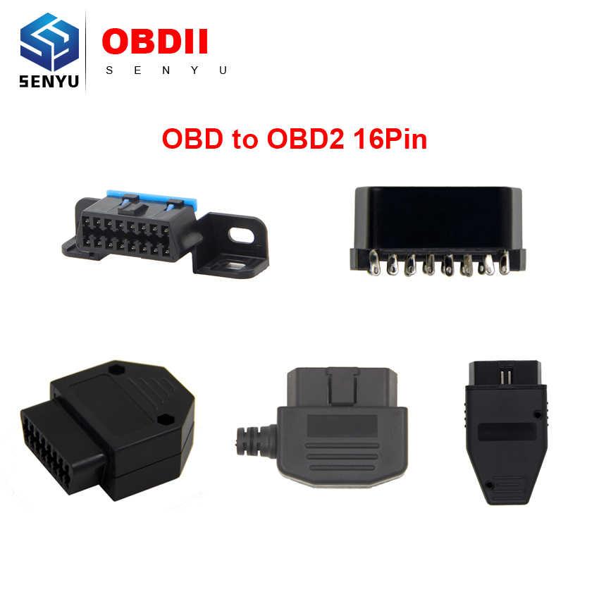 คุณภาพสูง OBD1 TO OBD2 16 ขา OBD 2 ขั้วต่อ OBDII OBD II16 พินอะแดปเตอร์ชายปลั๊ก J1962 CONNECTOR
