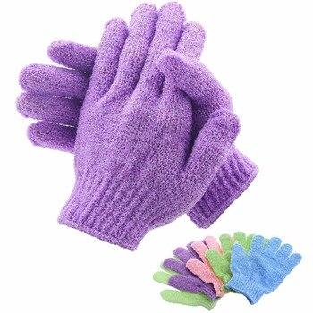 Gant d'épluchage exfoliant résistant | Bain pour éplucher, gant pour la douche, gants de gommage, éponge de Massage corporel, mousse de SPA hydratant pour la peau 2