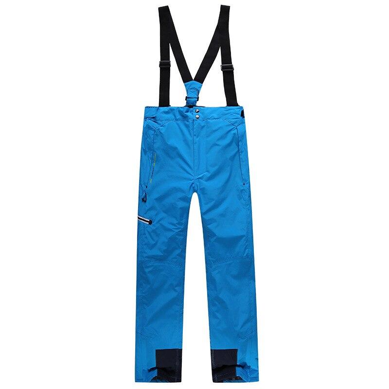 Épaissie Hommes Pantalon de Ski D'hiver En Plein Air Étanche Pantalon de Combat Mâle Sport Snowboard Thermique Amovible Jarretelles Pantalon