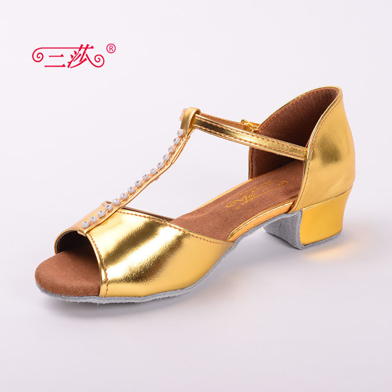 Sasha direct selling professional High Quality Children Latin Dance Shoes Economic Shoes Ballroom Salsa Tango Dance Shoes 101
