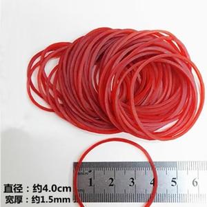 "Image 3 - איכות גבוהה 500 Pieces גומיות צבע אדום להקת גומי טבעי 40 מ""מ קוטר משרד בית הספר וגינה גומייה"