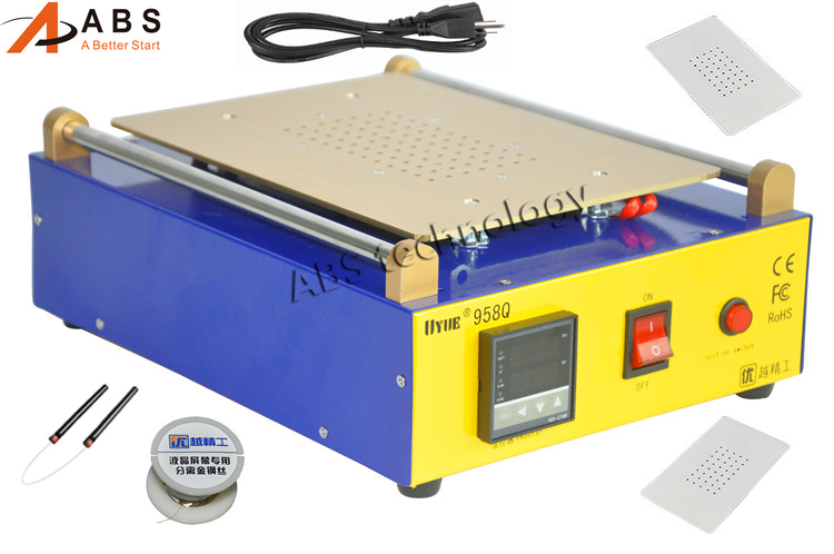 UYUE 958Q 10 inch Built-in Vacuum Pump LCD Separator Split Screen Repair Machine for Samsung ipad Tablet PC sast 10 1 inch display nintaus machine singing old machine 50p lcd screen hw101f 0b 0c 50