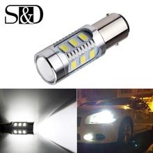 1157 BAY15D светодио дный автомобилей лампочки 12 SMD Samsung чип 5630 светодио дный чипов высокой Мощность лампы 21/5 Вт задние фонари Источник Парковка Белый 12 В D015