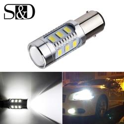 1157 bay15d lâmpadas de carro led 12 smd samsung chip 5630 chips led lâmpada de alta potência 21/5w luzes traseiras fonte estacionamento branco 12 v d015