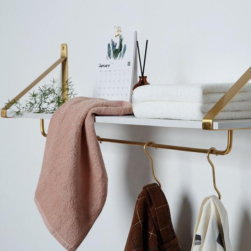 Ins nordique mur laiton Magazine livre rangement supports étagères salle de bain étagères toilette Rack étagère monté tissu couloir crochets rails
