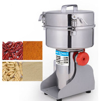 220V Chinese Medicine Grinder Portable Electric Food Grinder Swing Type Mill Machine 1000G Chili Powder Machine