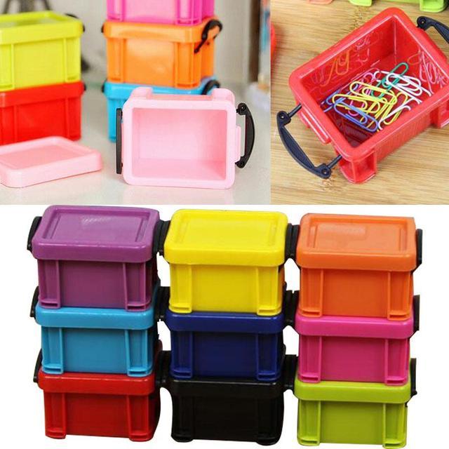 Mini Storage Buckle Box Case Home Container W/Lid Container Multicolor & Mini Storage Buckle Box Case Home Container W/Lid Container ...