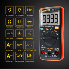 ANENG AN8009 Transitor Tester True-RMS Auto Range Digital Multimeter NCV Ohmmeter ACDC Voltage Ammeter Current Meter Temperature auto range ammeter digital clamp meter lcd backlight current voltage tester handheld voltmeter ohmmeter voltage meter