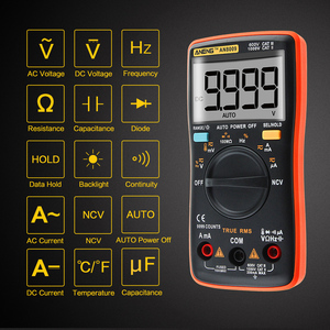 ANENG AN8009 Transitor Tester True-RMS Auto Range Digital Multimeter NCV Ohmmeter ACDC Voltage Ammeter Current Meter Temperature(China)