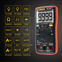 ANENG AN8009 Transitor Tester True RMS Auto Range Digital Multimeter NCV Ohmmeter ACDC Voltage Ammeter Current Meter Temperature