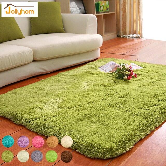 Solid Floor Carpet Mat Long Hair Modern Shaggy Rugs Slip Resistant Carpets For Living Room Bedroom