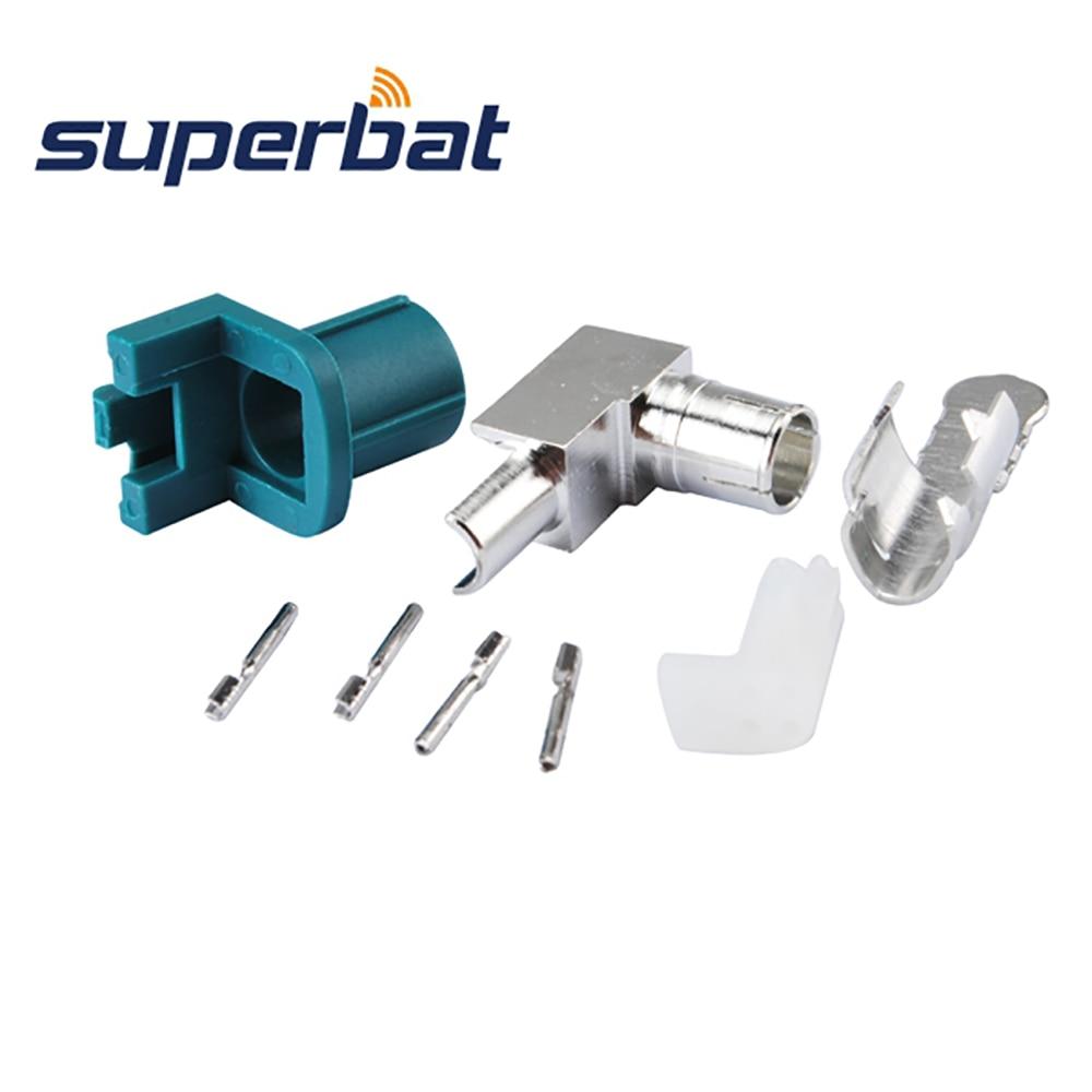 Superbat 10X Fakra Z Waterblue HSD Разъем Обжимной - Коммуникационное оборудование - Фотография 3