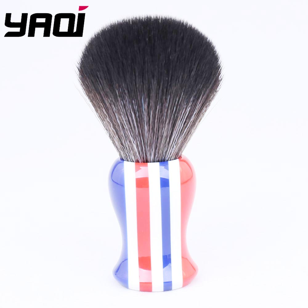 24mm Black Synthetic Hair Knot Stripe Color Handle Shaving Brush for Men24mm Black Synthetic Hair Knot Stripe Color Handle Shaving Brush for Men