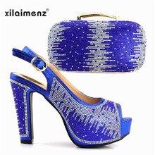 5f595cace92502 Royal Bleu Chaussures Italiennes avec Correspondance Cluth Sac Design De  Mode Nigeria Africaine Chaussures et Sac