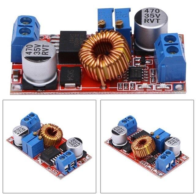 5 Шт./лот Постоянного Тока и Напряжения 5A СВЕТОДИОДНЫЙ Драйвер Зарядки Аккумулятора Модуль ток Напряжение Регулируемый Модуль