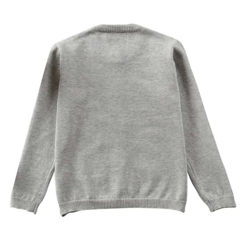 가을 겨울 면화 스웨터 탑 아기 아동 의류 소년 소녀 니트 카디건 스웨터 키즈 봄 착용 새로운