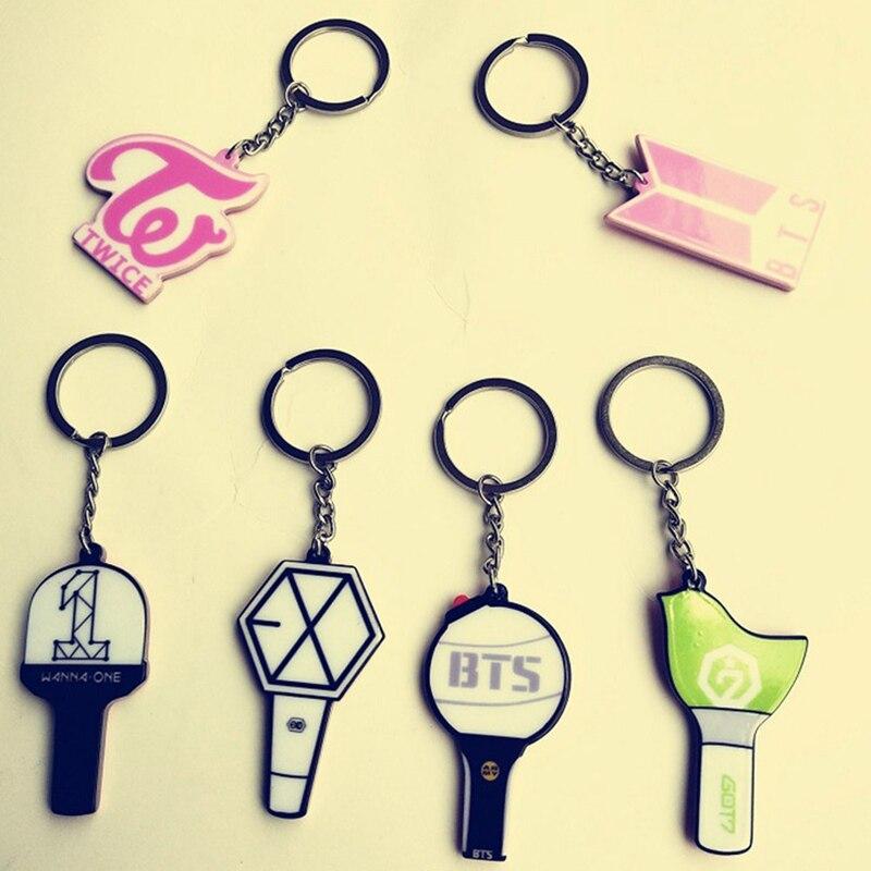 Jewelry Sets & More Candid 1pc Bts Bangtan Boys Album Exo Got7 Seventeen Rainbow Acrylic Keychain Cute Keyring Key Holder Bag Pendant Meticulous Dyeing Processes