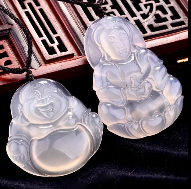 White jade marrow maitreya jade necklace couple men and women white jade marrow maitreya jade necklace couple men and women guanyin buddha jade pendant happy buddha gongyu guanyin in pendants from jewelry accessories aloadofball Image collections