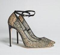 Пикантные туфли на высоком каблуке с острым носком, шикарные женские кружевные туфли лодочки на высоком каблуке, элегантные свадебные туфл