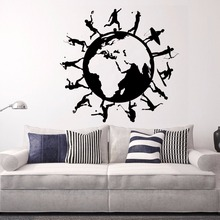 Art  Wall Sticker Lifestyle Decor Earth Decoration Vinyl Art Removeable Sports Decal Modern Life Beautiful Sticker LY158