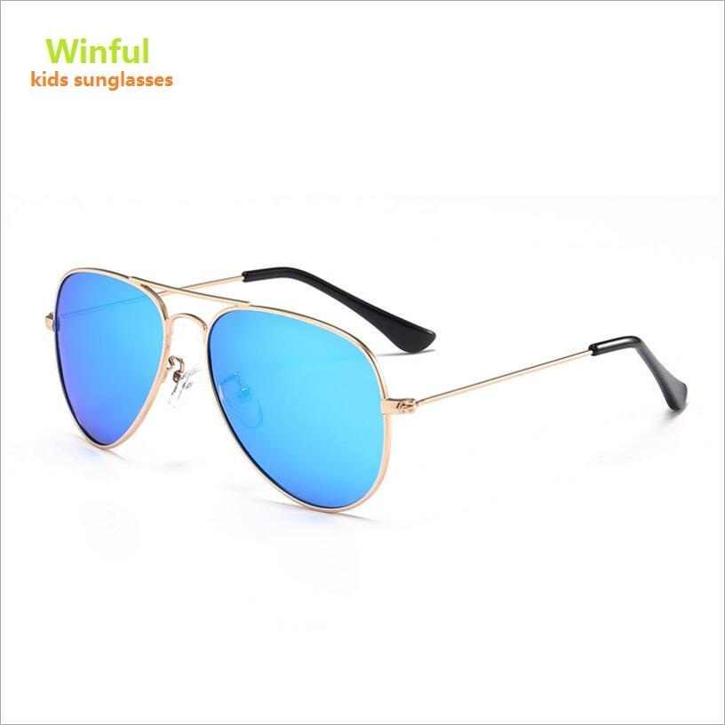 1338e8addc4 Fashion Polarized Children pilot Sunglasses Metal Frame Sun Glasses for Children s  UV400 Protection Aviator Kids Eyewear