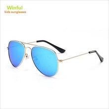 Классический пилот Солнцезащитные очки Детская так крутая металлическая рамка Поляризованные линзы Солнцезащитные очки UV400 Shades Prodection Eyewear free ship