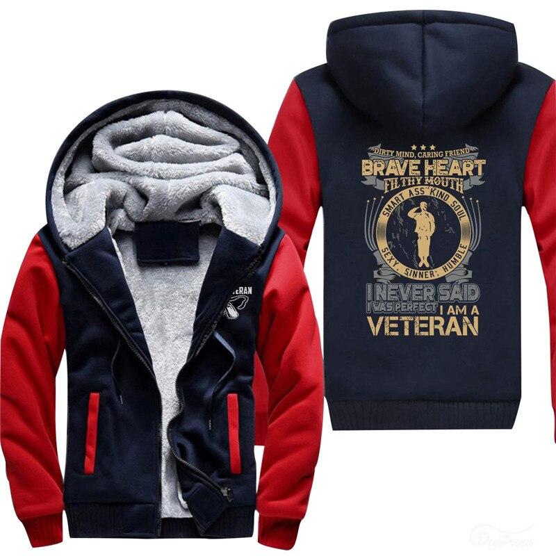 orange red Veterano Yo red1 Black grey Perfecto Un white Sudaderas red2 Era Soy Nunca Fleece Espesada Dijo Me Que 8qU6wx6H