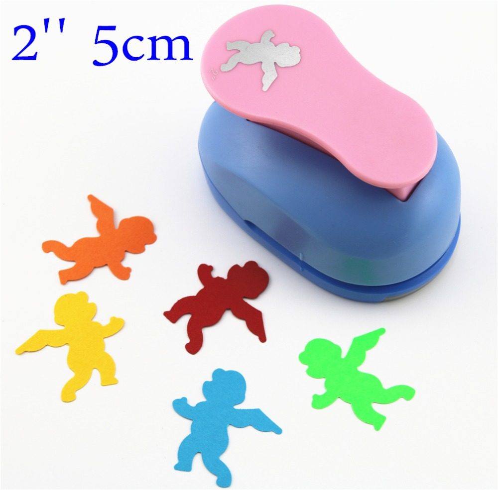 angel punches 2'' craft punch paper cutter scrapbook child craft tool hole punches Embossing device kid S2935-5 1 inch 25mm crafy punches paper cutter punch embossing machine diy craft kindergarten children fine arts craft tools