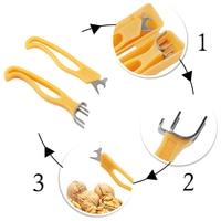 2 шт./компл. Pecan Nut Cracker нержавеющая сталь Multi-function щипцы для грецких орехов Sheller Nut Opener детский подарок домашняя кухня закуски инструмент