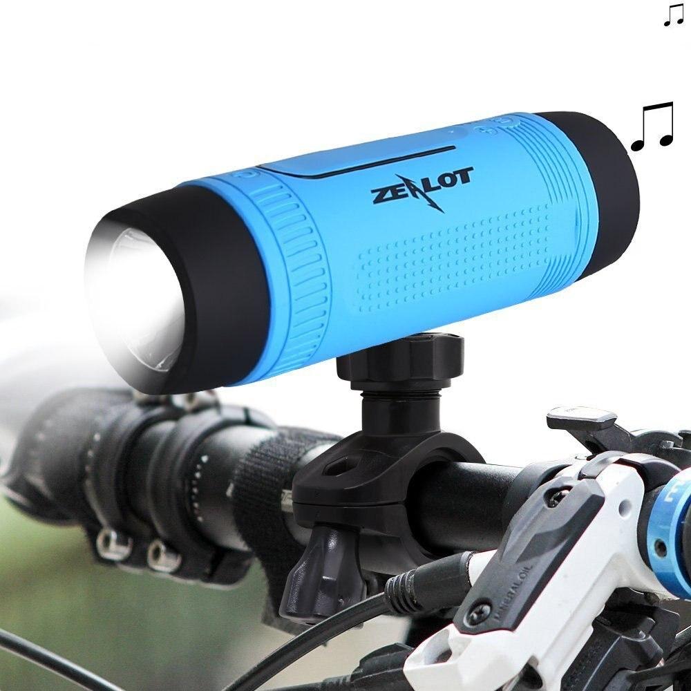 Waterproof Bluetooth Speaker With LED Flashlight Sport Stereo Wireless portable Speaker 4000mAh Battery TF Card Slot
