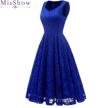 2019 Lace homecoming dress Royal blue Sweetheart neck sleeveless knee length dress women cocktail short homecoming фото