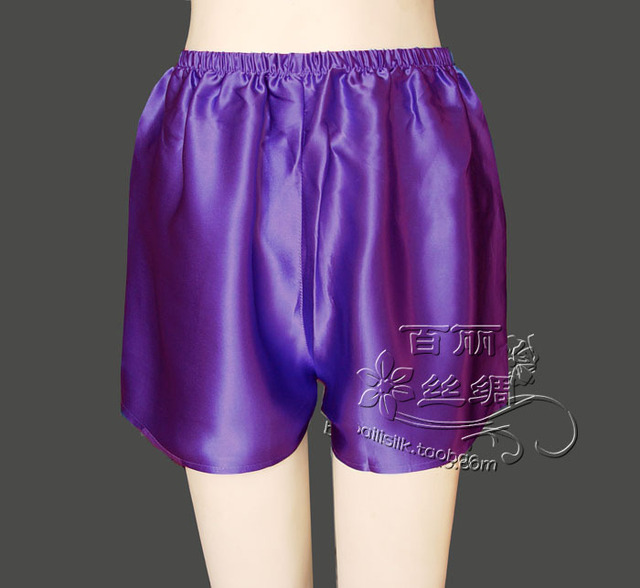 Special offer 100% mulberry silk shorts Scanties  pants are lining divided skirt