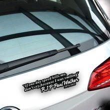 Car Decoration Fast & Furious 7 Motto Of Paul Walker Forever Car Sticker For Chevrolet Cruze Volkswagen skoda Hyundai Kia Lada