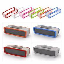 زجاجة من السيليكون قابلة للطي الحال بالنسبة Bose SoundLink Mini 1 2 Sound Link I II سمّاعات بلوتوث حامي غطاء صندوق الجلد مكبرات الصوت كيس مزموم