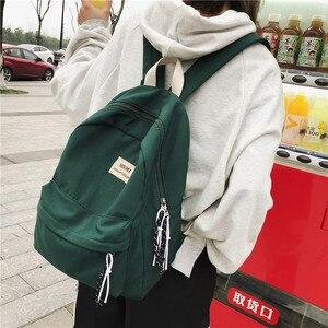 Image 3 - DCIMOR חדש מוצק צבע נשים תרמיל רטרו אופנה עמיד למים ניילון Bagpack עבור בני נוער מוצ ילאס תרמילי נסיעות